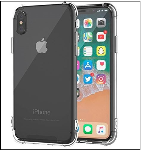 6 Tranparent iPhone X hard Clear Case