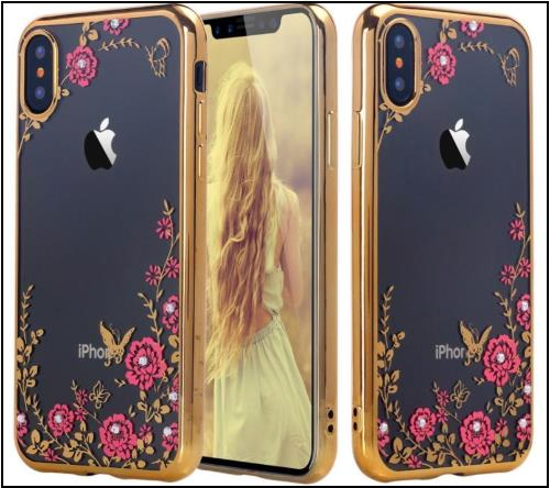 8 Butterfly Diamond iPhone X Case