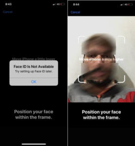 Face ID is not Available Try Setting Up Face ID later on iphone XS max iPhone XS iPhone XR