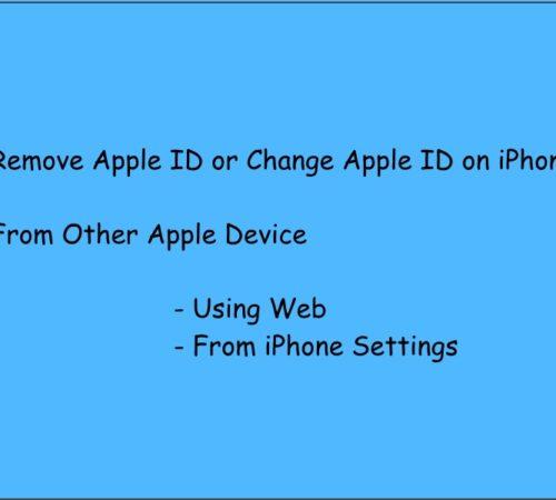 1 Remove or Change Apple ID