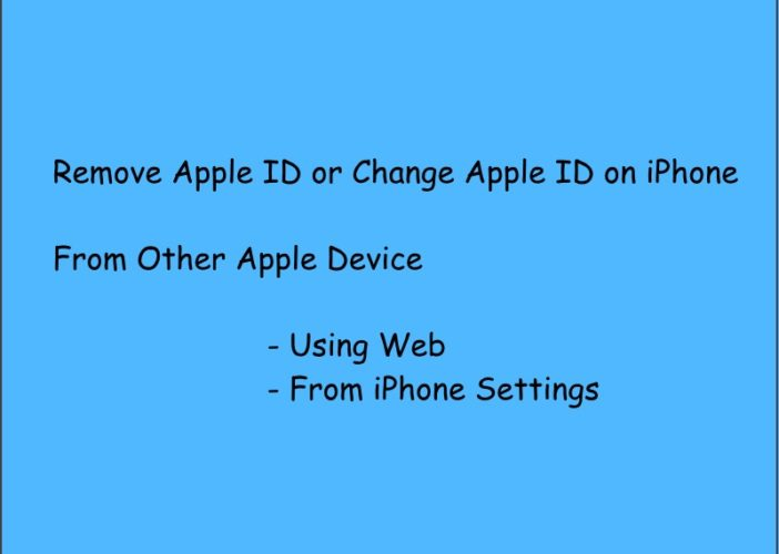 1 Remove or Change Apple ID