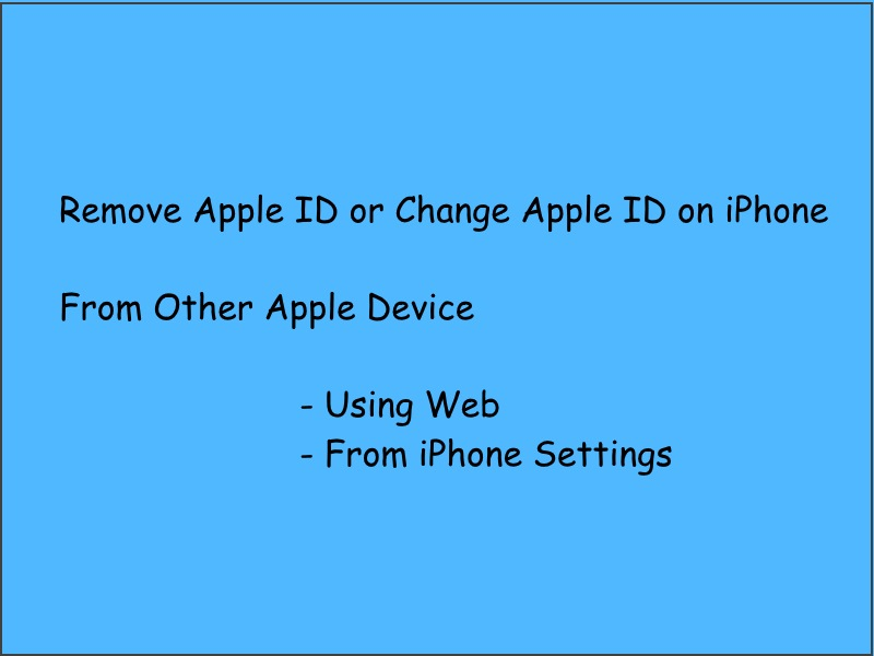 How To Remove An Apple Id From Iphone 4