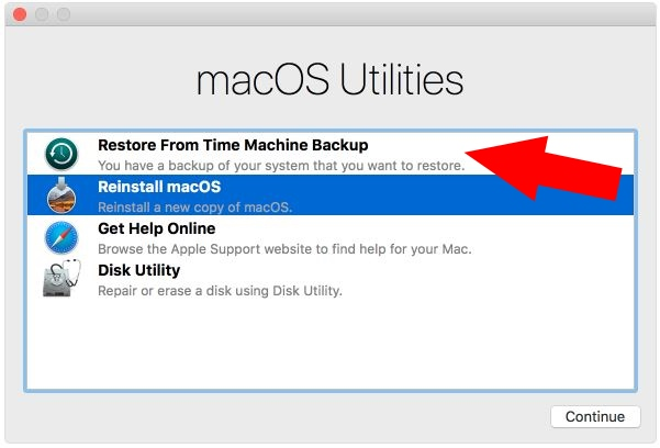1 Restore iMac Pro From Time Machine Backup -1