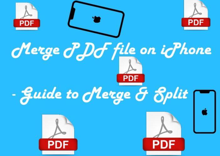 1 merge PDF on iPhone