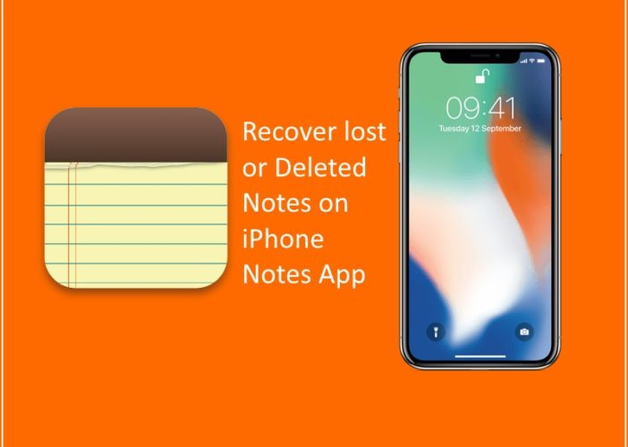 2 Recover lost or Deleted Notes on iPhone