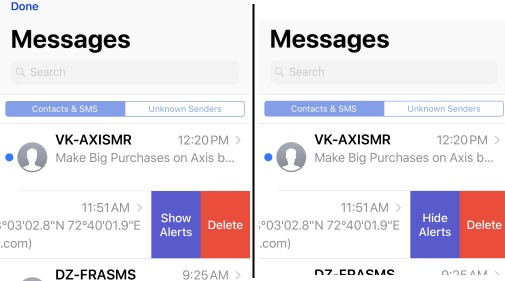 Manage Notification alert for Message