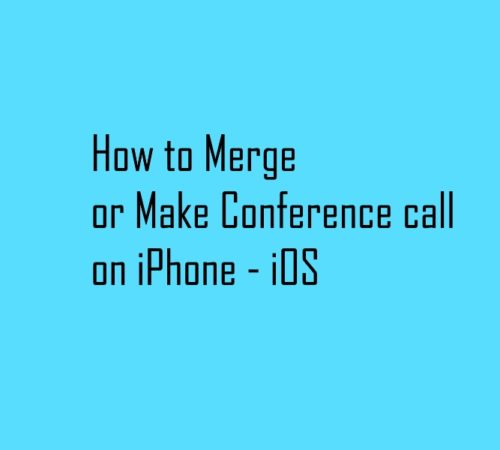 Merge and Do conference call on iPhone