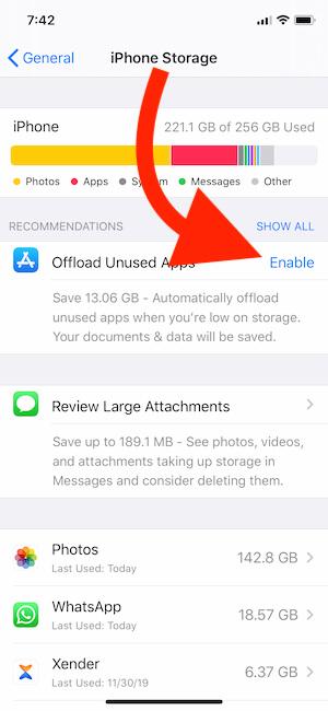 Offload Unused App on iPhone-2