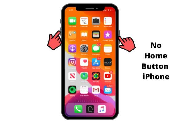 Сделайте снимок экрана на iPhone X или более поздней версии без кнопки «Домой» iPhone