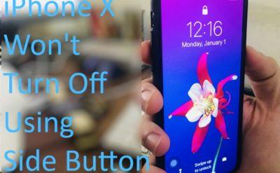 1 iPhone X Won't turn off