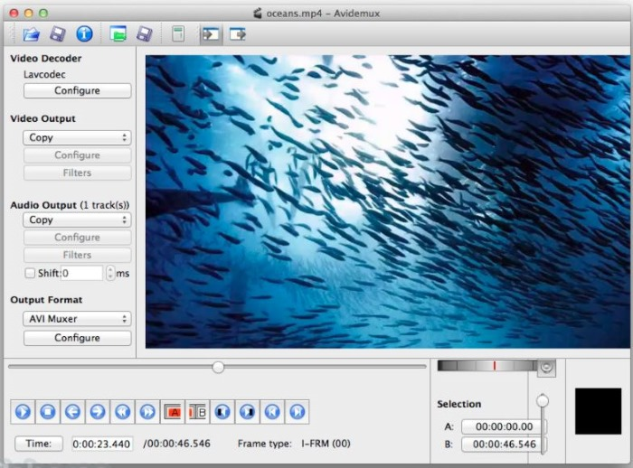 2 Avidemux video editing software for Mac