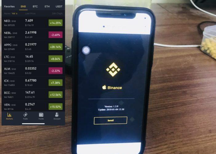 5 install Binance app on iphone and iPad