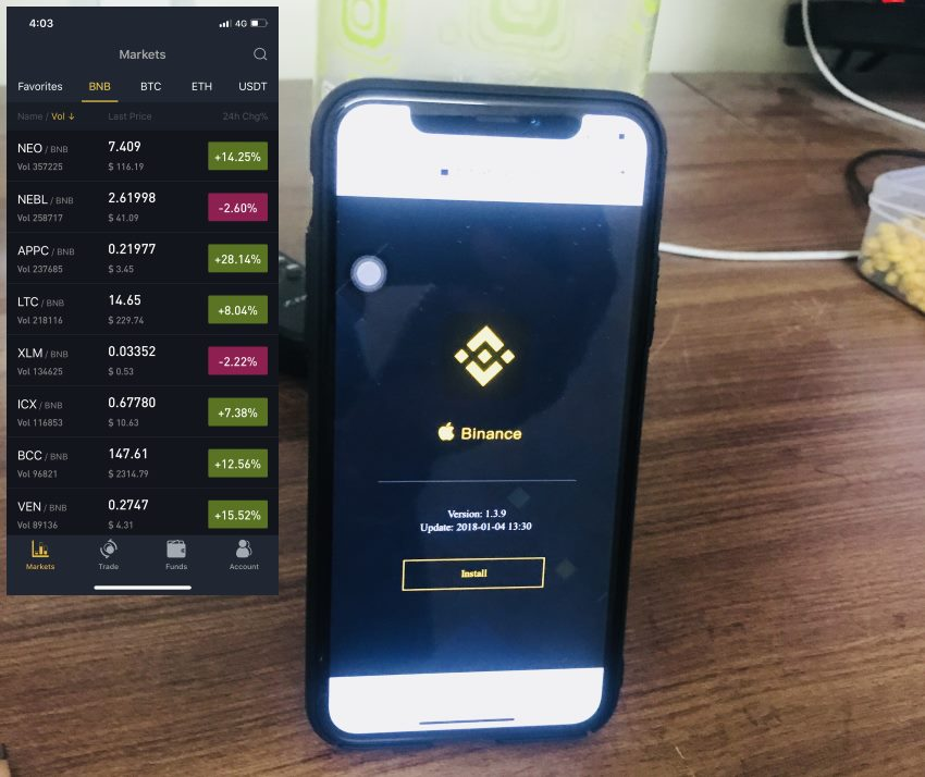 5 install Binance app on iphone and iPad