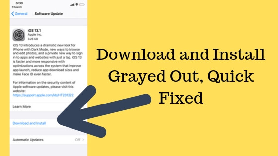Download and Install Grayed out on iPhone and iPad