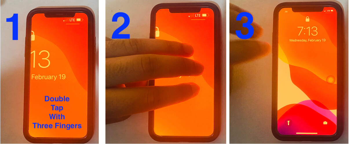 Exit from Zoom iPhone screen lock or Home screen