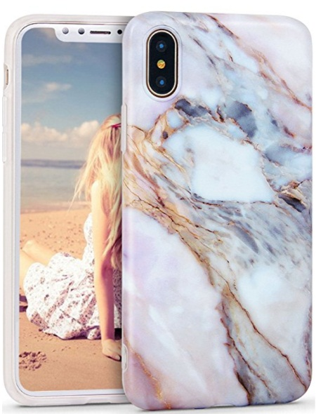 Imikoko iPhone X Marble Case Flexible Case Print Case