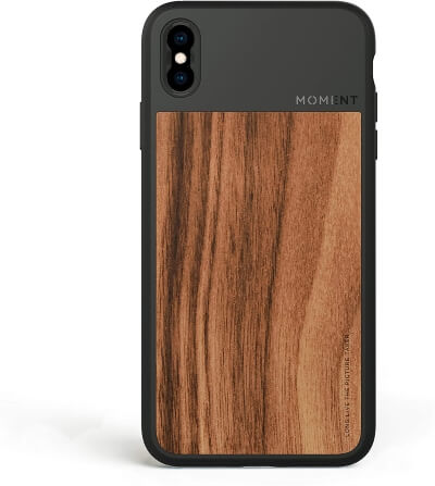 Moment Protective iPhone X Walnut Case