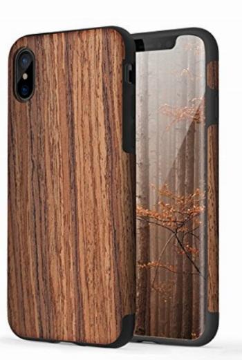 Rock iPhone X wooden Case