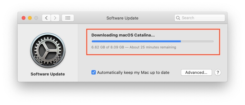 Start Downloading MacOS catalina
