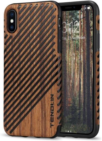 TENDLIN Wooden Print Case iPhone X