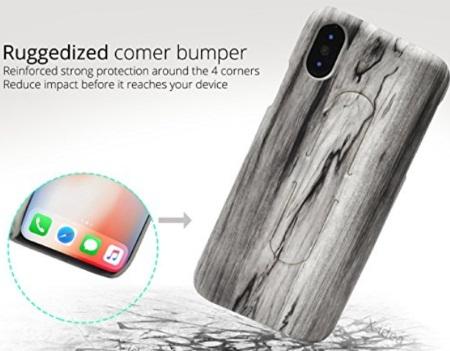 X-idea Wooden texture iPhone X Case