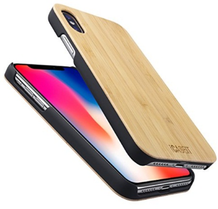 iCASEIT offers iPhone X Wooden Case