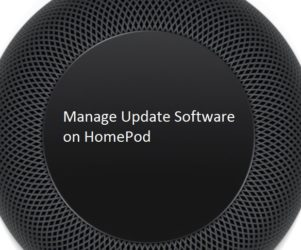 1 Homepod Software Update enable and Disable