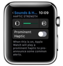 1 Manage Haptic on apple Watch