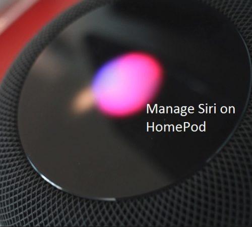 1 Manage Hey Siri on HomePod