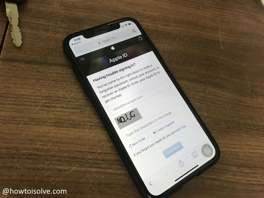 1 Reset Apple ID Password on iPhone