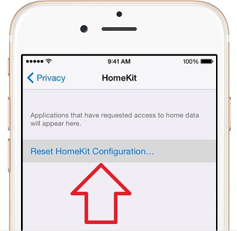 1 Reset Homekit on iPhone