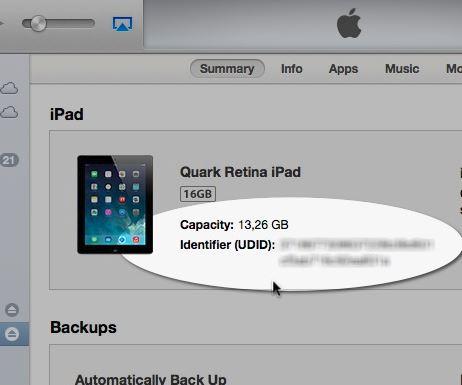 1 UDID of iPhone or iPad