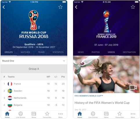 2 FIFA Official App for iPhone and iPad