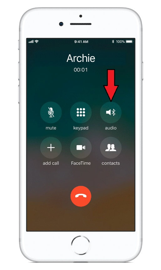 Tap on Audio to transfer call to HomePod