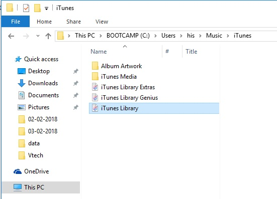 3 iTunes Library on Windows PC