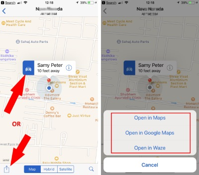 1 Open Shared Location on WhatsApp to Google Map or other Map