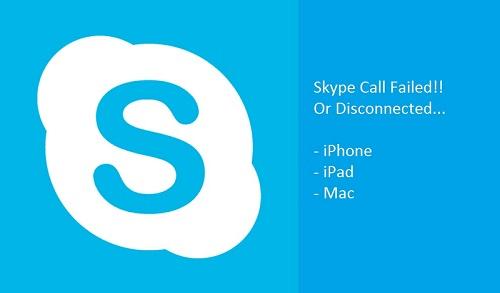 1 Skype Call Failed on iPhone features