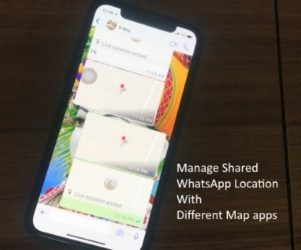 1 WhatsApp Shared Location open on Different map app featured
