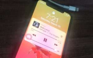 1 iPhone X Music Volume low fixed