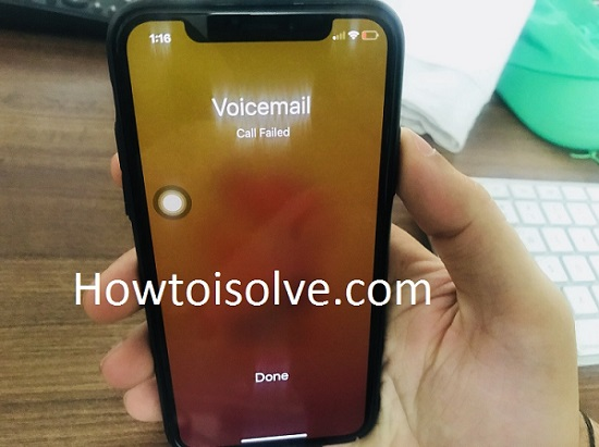 2 iPhone Voicemail Call Failed fix