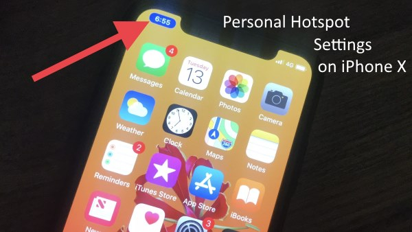 2 iPhone X Personal Hotspot settings