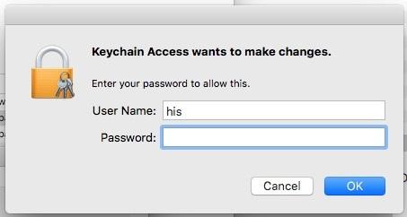 3 Enter Mac Password for auto