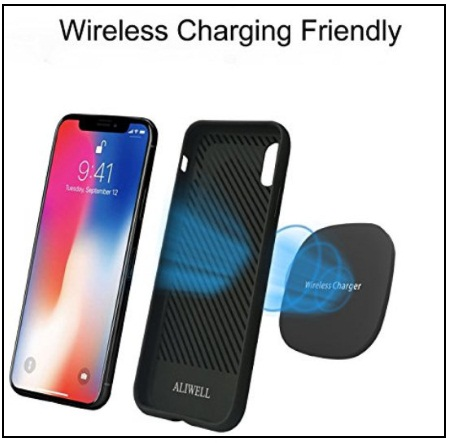 ALIWEll iPhone X Carbon Fiber thin Case