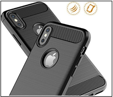 Leseeing iPhone X Carbon Fiber thin Case