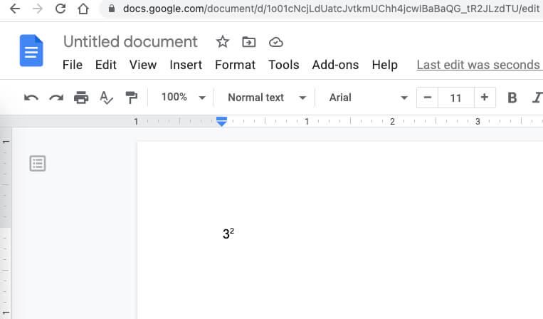Число преобразовано в экспоненты на Mac Google Dock онлайн