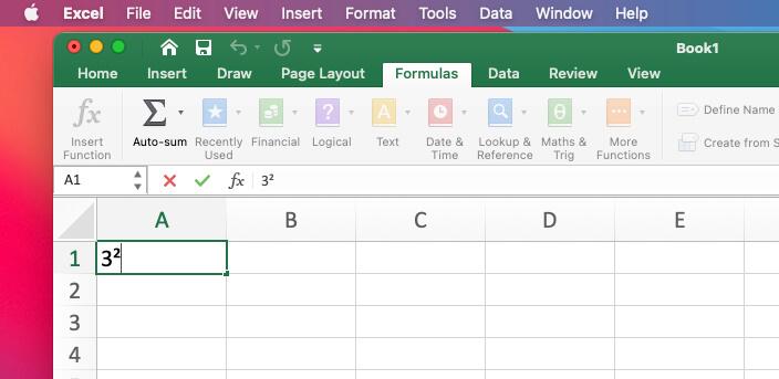 Квадратный символ в файле Excel для Mac