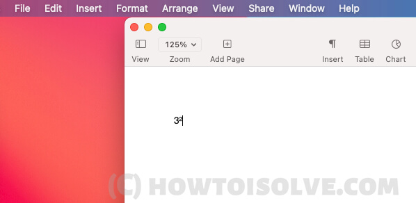 Введите квадратный символ на страницах Mac и номер, используя эмодзи и символы на Mac Way 3