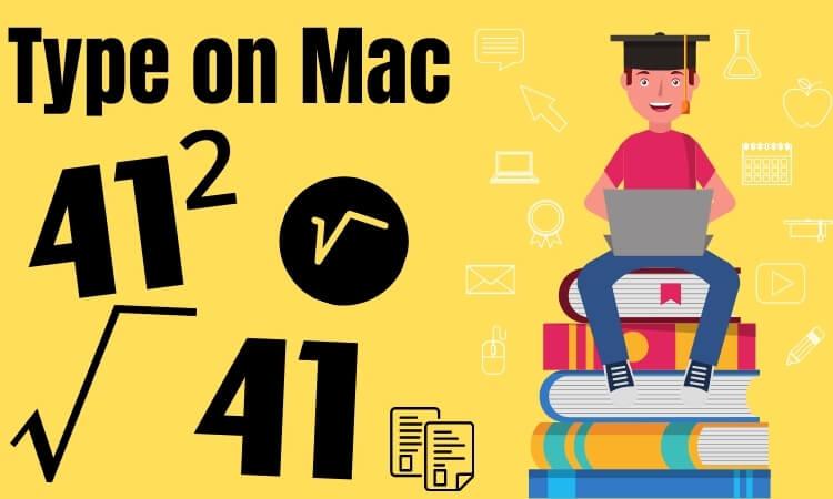 Type a Square Symbol on a Mac, MacBook