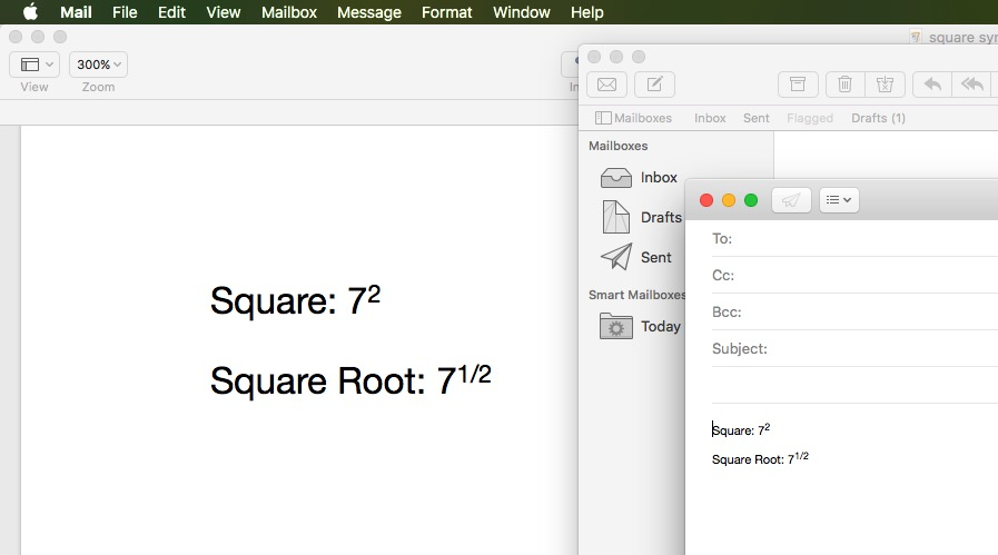 Use Square Symbol on Pages or Mail app