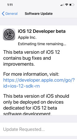 iOS 12 developer beta download and install on iPhone without developer account or UDID (1)